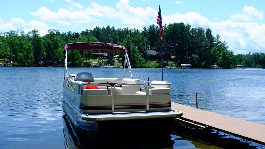 Lake Country Minnesota Beauty In Nature Boat Cloud - Sky Day Lake Mode Of Transport Moored Nature Nautical Vessel No People Outdoors Pequot Lakes Sky Transportation Tree Water Waterfront