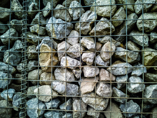 Backgrounds Coastal Defences Day Environmental Issues Firewood Forest Full Frame Gabion No People Pattern Stack Textured
