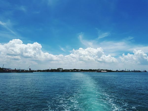Cloud - Sky Sea Water Blue Sky Nature Philippines Nature Boat Ride