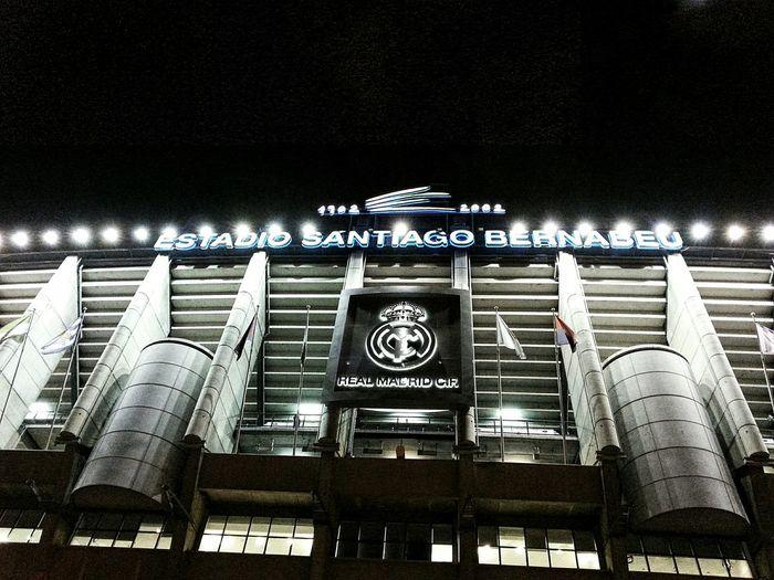 Madrid At Night Madrid Real Madrid Bernabéu Architecture