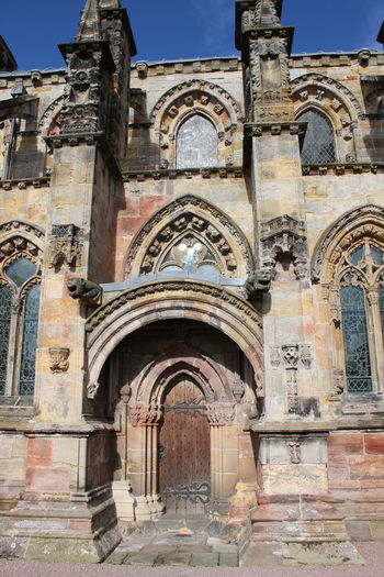 Arch Architecture Archival Building Exterior Built Structure City Day Edinburgh History Medieval No People Outdoors Rosslyn Chapel Scotland Sky