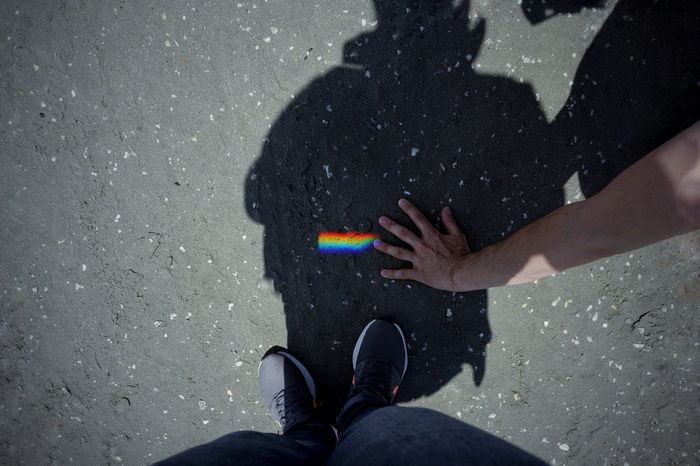 Sand People Reflection On Sand Taking Photos Rainbow Rainbow Colors Spectrum Hand Low Section Human Hand Shadow Men Standing Women High Angle View Human Leg Focus On Shadow Footwear Pair Ground Personal Perspective Long Shadow - Shadow Shoe Canvas Shoe The Still Life Photographer - 2018 EyeEm Awards The Traveler - 2018 EyeEm Awards The Creative - 2018 EyeEm Awards Love Is Love