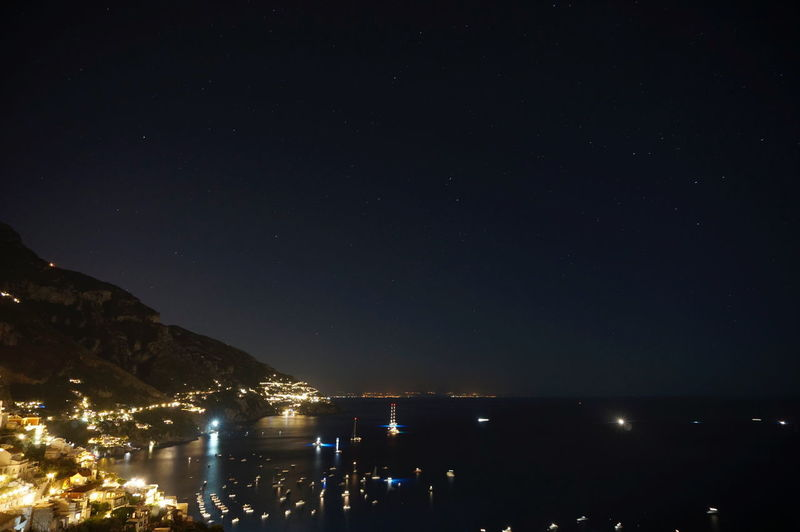 Night Arts Culture And Entertainment Illuminated Star - Space Astronomy Nightlife Mountain City Beach Outdoors No People Sky Beauty In Nature Constellation Popular Music Concert Nature Positano Italy Positano Coast Positano Concadoro Perfect View Star Cityscape Beauty In Nature Architecture Town