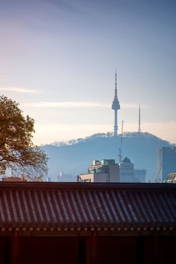 N seoul tower view from changdeokgung palace