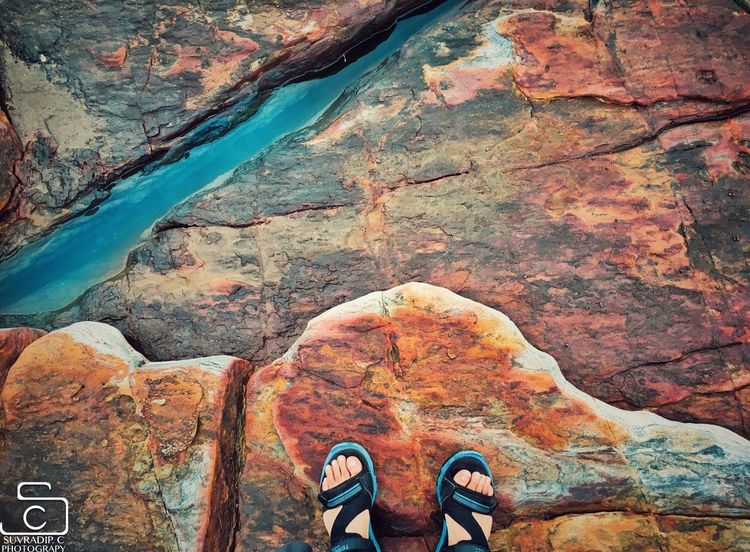 Travelling Feet Shoe Low Section Human Leg One Person Rock - Object Real People Human Body Part Outdoors Personal Perspective Day Standing Nature Lifestyles Scenics Water Adult People EyeEmNewHere
