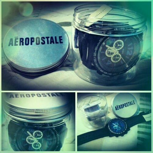 Watch It! Aeropostalewatch Gear Blackandblue Coolwatch trendy thanksma