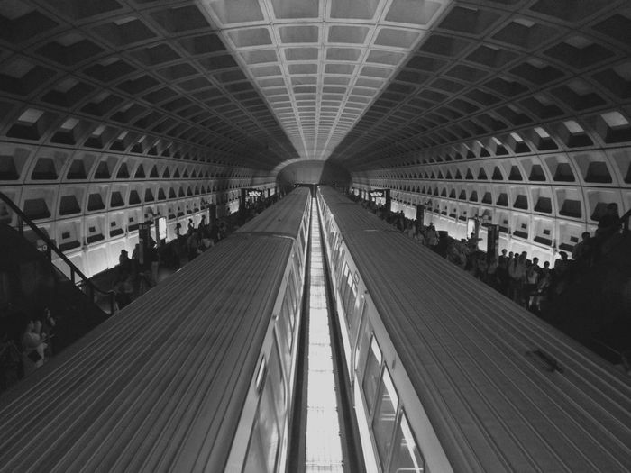 High angle view of metro in washington dc