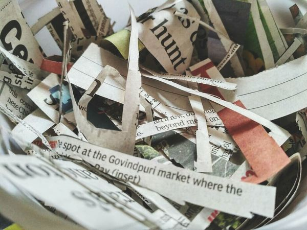 Newspaper waste Newspaper Newspaper Pics Cuttings Waste Photography Paper View Still Life Eyeemphotography Newstuff Newspaper Cutting