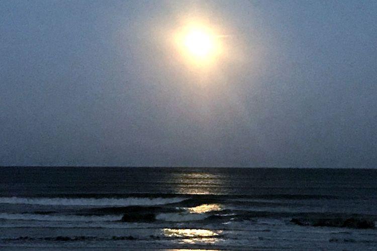 Full Moon Rising Full Moon Beach Sea Beauty In Nature Horizon Over Water Sun Nature Scenics Water