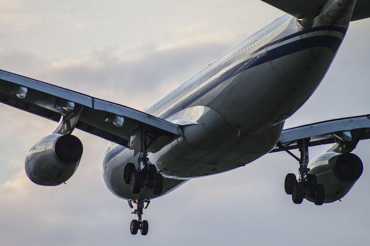 Airplane close-up