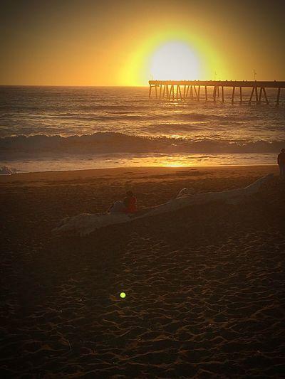 Pacifica Pier sunset .