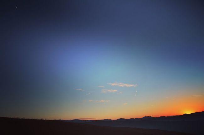 Tramonto tra le colline pavesi. Il sole e la luna. Nature Sunset Hills Moon Montalto Paragliding