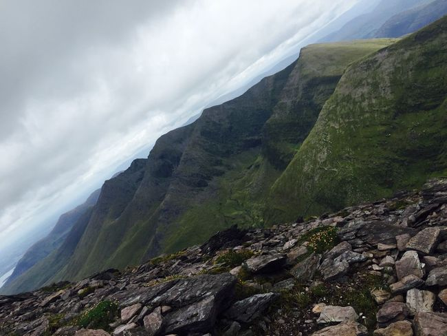 Highest point in Ireland, August 2015 Achievement Carrauntoohil Cloud - Sky Geology Highest Peak In Ireland Idyllic Landscape Majestic Mountain Mountain Range Outdoors Physical Geography Summit Top Of Irelan Tranquility Travel Destinations A Bird's Eye View