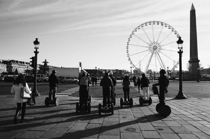 Tour de Segway, Place de la Concorde, Paris. Paris Place De La Concorde Black And White