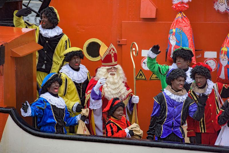 Children Festive Season Happy How You Celebrate Holidays Intochtsinterklaas Kinderenaanhetwater Netherlands Santa Claus Ship Sinterklaas St. Nicolas Zwarte Piet