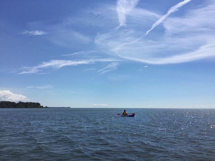 Kayak fishing Detroit River Kayaking Kayak Fishing Michigan Summer Summer Day