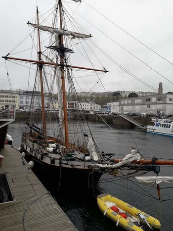 Sailing Ship Tall Ship Nautical Vessel Mast Water Harbor Moored Sailboat Sea Sky