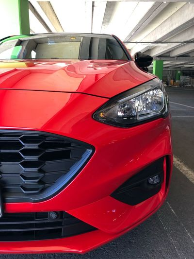 Time to race Welcome To My World Mylove Moments Welcome IPhoneX Fordfocus Ford Mode Of Transportation Transportation Red Motor Vehicle Car Sports Car No People Day Close-up Headlight