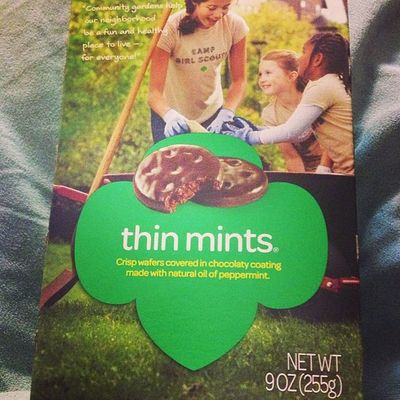 The boxes are a lot smaller than I remembered :/ Girlscoutscookies Thinmints