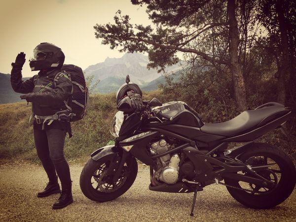 BikerGirl Longweekendride Napoleonroad Alpesmountain Ontheroad IPhoneography