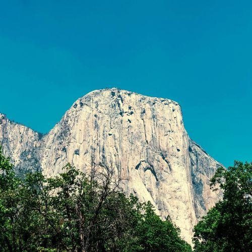 El Capitan EyeEm Selects Galaxy Mountain Astronomy Clear Sky Blue Cliff Rock - Object Sky Landscape Geology Rock Formation Rugged Natural Landmark