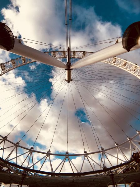 Cloud - Sky Sky Low Angle View No People Amusement Park Day Outdoors Architecture