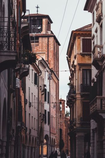 Treviso Building Exterior Architecture Built Structure Building Residential District No People City Low Angle View Day Clear Sky House Apartment Sky Nature Sunlight Travel Destinations Tower Window Outdoors Fire Escape