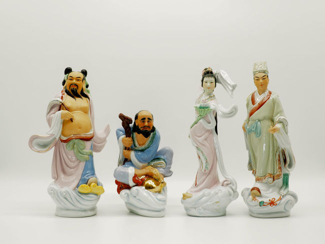 Eight Immortals The Traditional of depicting humans who have become immortals is an ancient practice in Chinese Art. Art Baxian Chinese Culture Chinese Mythology Decoration Education Eight Eight Genies Eight Immortals Gods Group Of People Happiness Indoors  Lucky Pinyin Power