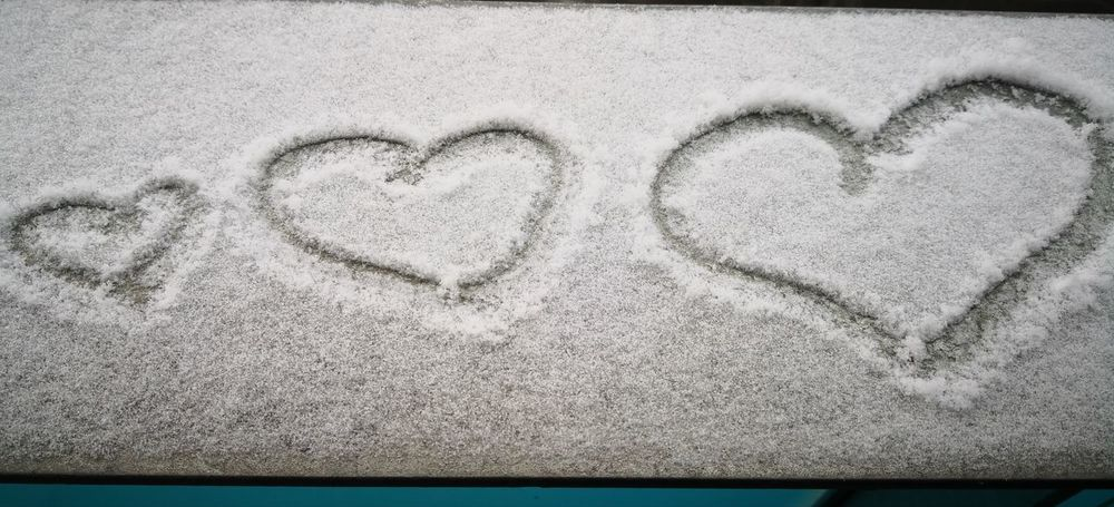 Beach Sand Love Heart Shape Close-up
