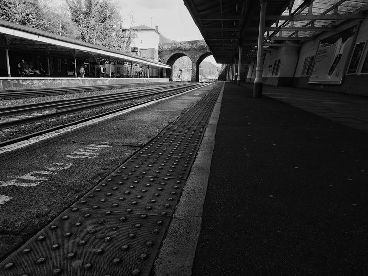 Railroad Track Rail Transportation Transportation Railroad Station Platform Public Transportation Architecture Railroad Station Train - Vehicle Bridge - Man Made Structure Built Structure No People Outdoors Day Sky The Street Photographer - 2017 EyeEm Awards