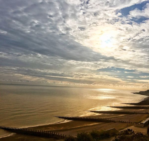Scenic view above hollywell tea rooms... Tranquil Scene Scenics Beauty In Nature Water Sea Nature Beach Tranquility Sky Cloud - Sky Horizon Over Water Outdoors Sand No People Landscape Sunset