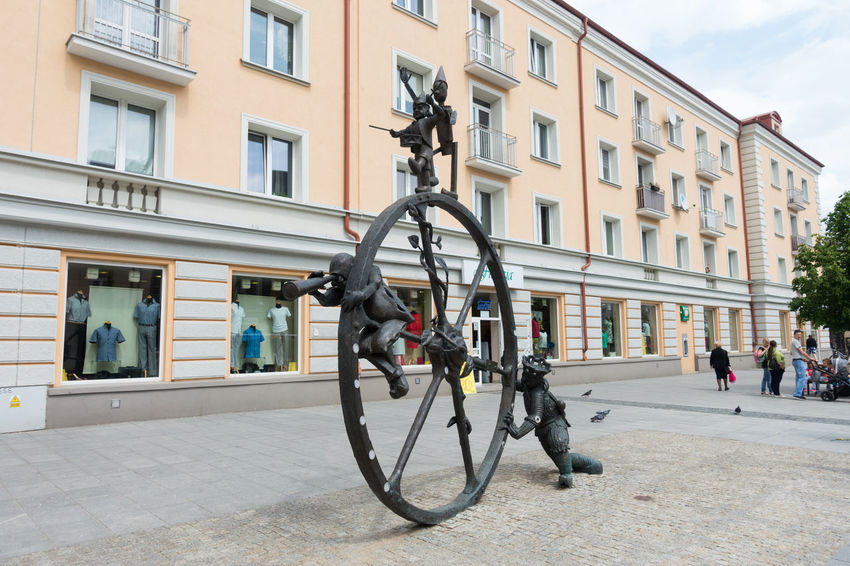 Poland Architecture Bialystok Bicycle Building Exterior Built Structure City Day No People Outdoors Sky Transportation