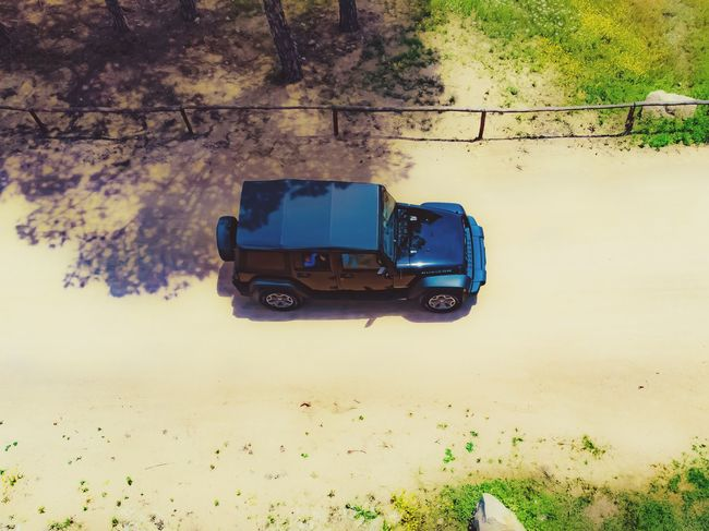 Transportation Mode Of Transportation Land Vehicle Nature High Angle View Day No People