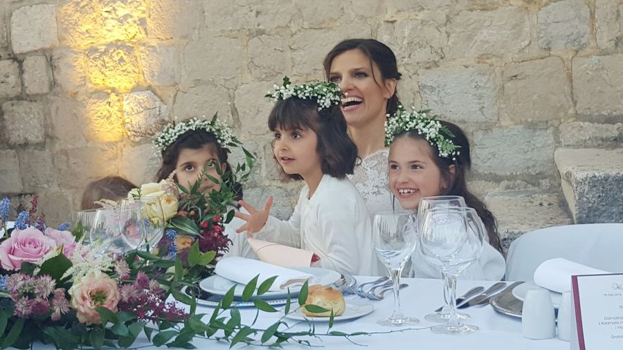 People Together Together Friends Flowerheads Wedding Bridesmaids Floral Arrangement Bride Castle Dubrovnikoldtown Dubrovnik, Croatia Laughing Laughter