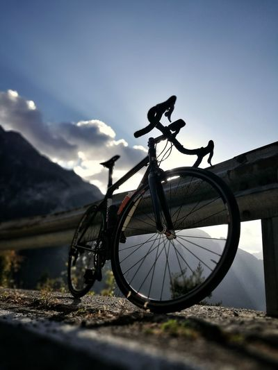 Bicycle Cycling Mountain Transportation Cloud - Sky Sky Mode Of Transport Day Outdoors Mountain Range No People Nature Road Bike Road Biking Roadbike Italy Lombardy
