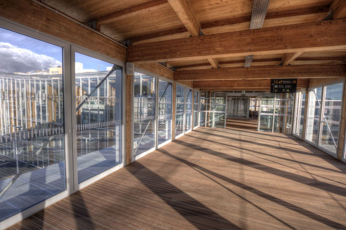 Architecture Built Structure Day Indoors  Lorient Modern No People Roof Beam Sky Sncf Sunlight Window Wood - Material