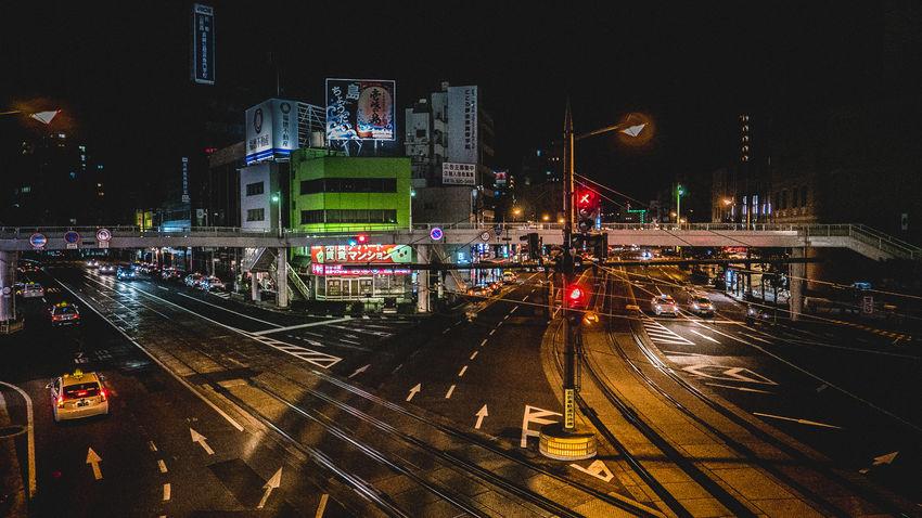 Architecture City Illuminated Nagasaki Night Night Lights Nightview No People Outdoors Transportation Travel Destinations