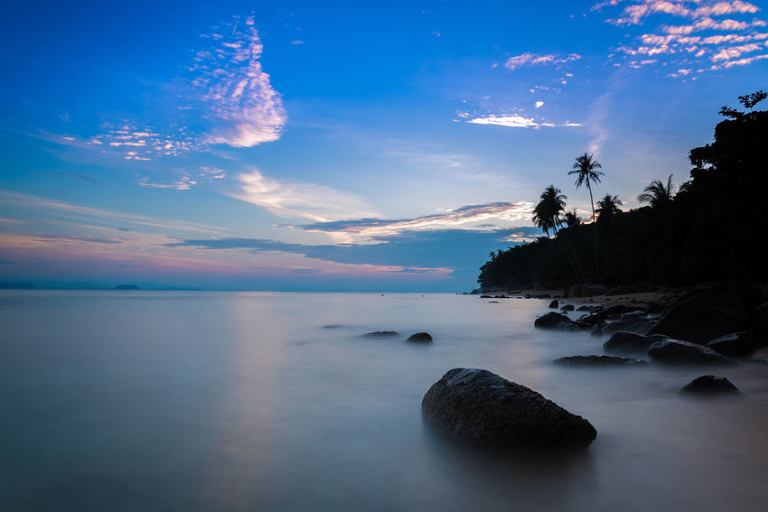 Beautiful seascape. Beach Beach Holiday Boulders Cloud Cloud - Sky Holiday Landscape Long Exposure No People Outdoors Outdoors Photograpghy  Palm Trees Rocks Scenics Sea Seascape Seaside Shore Silhouette Sunset Vacation Wanderlust Water