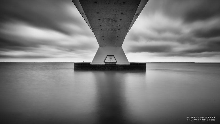Smart Simplicity Zeeland  Zeelandbrug Long Exposure Monochrome Blackandwhite