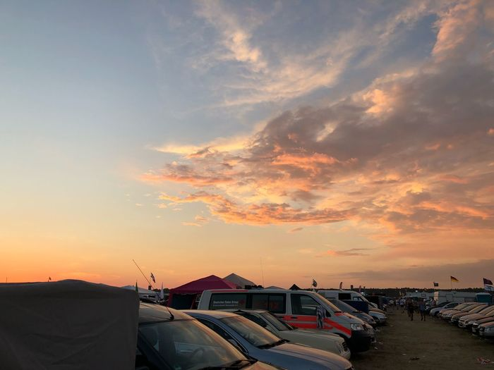 Airbeat One 2018 Car Summer Airbeat Airbeatone Festival Season Festival First Eyeem Photo Sunset Sky Cloud - Sky Beauty In Nature Outdoors Orange Color Nature