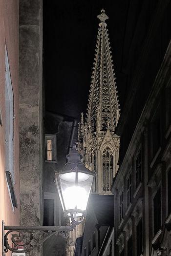Bavaria Dome Night Lights Night View Nightphotography Regensburg Rudolf Rinner World Heritage