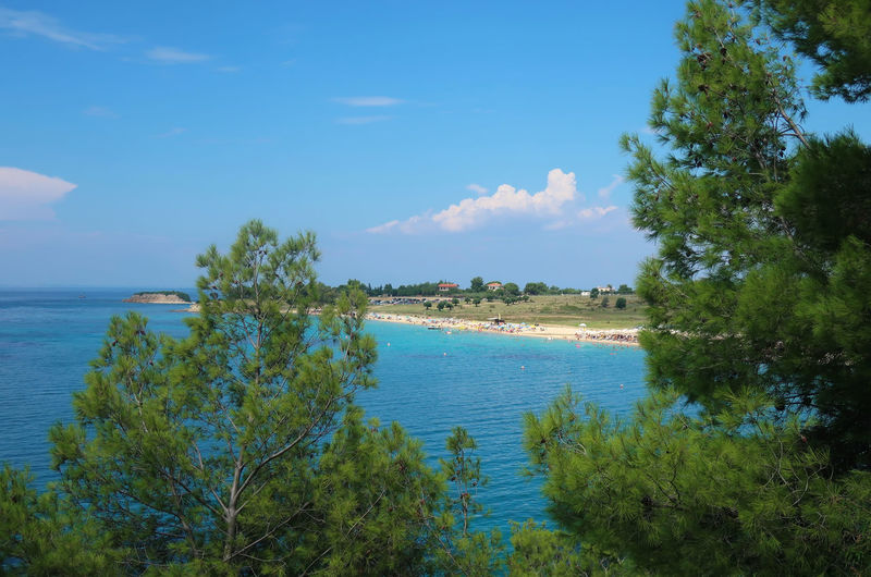 Agios Ioannis beach, Sithonia - Greece Summer Sea Beach Water Nature Sky Tree Holiday Blue Travel Tourism Vacation Tranquility Greece Plant Hellas Beauty In Nature GREECE ♥♥ Idyllic Sithonia Nikiti Tranquil Scene Non-urban Scene Scenics - Nature Agios Ioannis Beach Outdoors Green Color