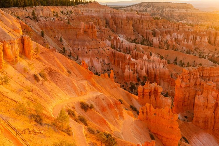 sunrise at Bryce Canyon Beauty In Nature Scenics - Nature Non-urban Scene Rock Tranquil Scene Rock Formation Tranquility Rock - Object Travel Destinations Physical Geography Travel No People Geology Outdoors Eroded Bryce Canyon Sunrise Solid Landscape Canyon Environment Extreme Terrain Sandstone Layered Arid Climate