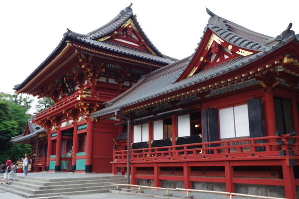 Japan Kamakura City Place Of Worship Red Religion Cultures Ancient Gate History Sky Architecture