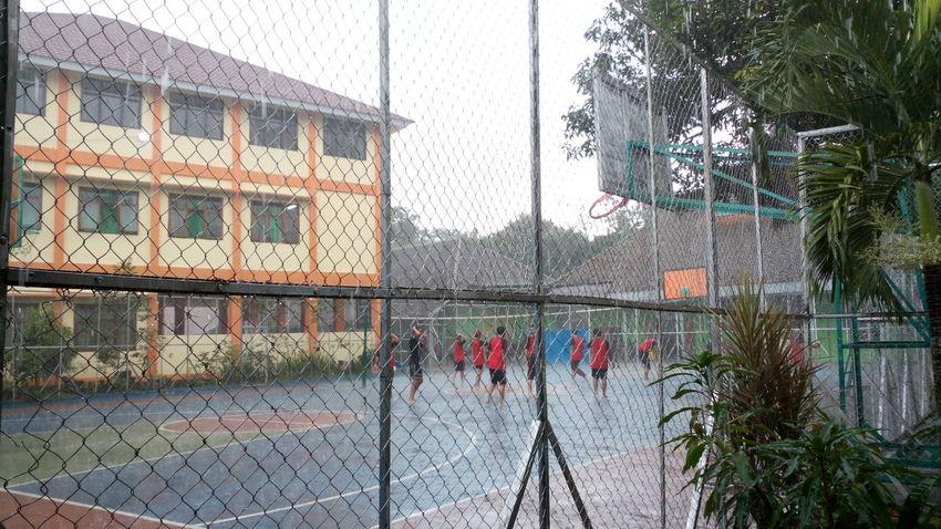 Rain, play, football,outdoor, fun activities, sport School, Breaktime, Togetherness