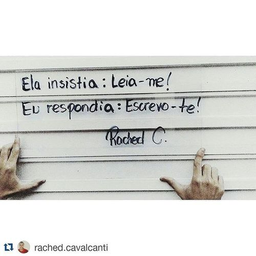 Repost @rached.cavalcanti with @repostapp ・・・ Escrevo-te! Poesianovidro Poema Poeta Versos ELA Poesia