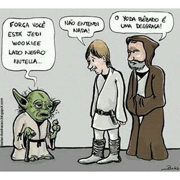 Ressaca nas Estrelas Mestreyoda Starwars Jedimaster Lukeskywalker obionekenobi yodabebado guerranasestrelas