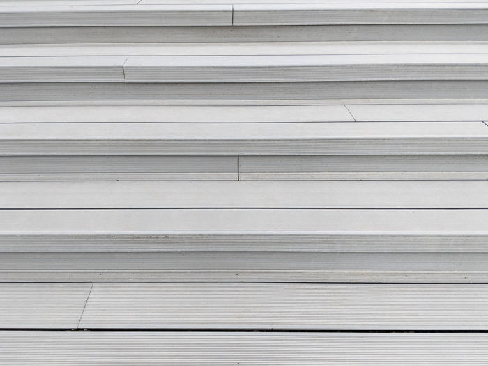 full frame shot of shutter Architecture Backgrounds Built Structure Close-up Day Full Frame In A Row Indoors  Metal No People Parallel Pattern Repetition Shutter Silver Colored Striped Textured  Wall - Building Feature White Color Wood - Material