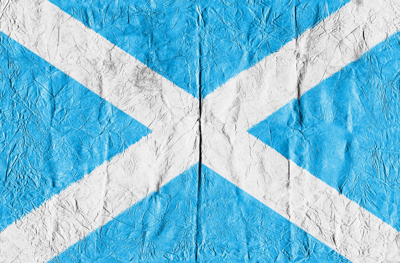 Full frame shot of scottish flag on paper