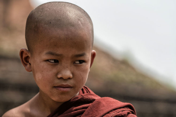 Close-Up Of Boy Monk